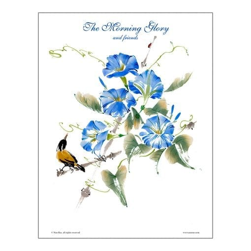 Morning Glory Brush Painting Lesson by Nan Rae