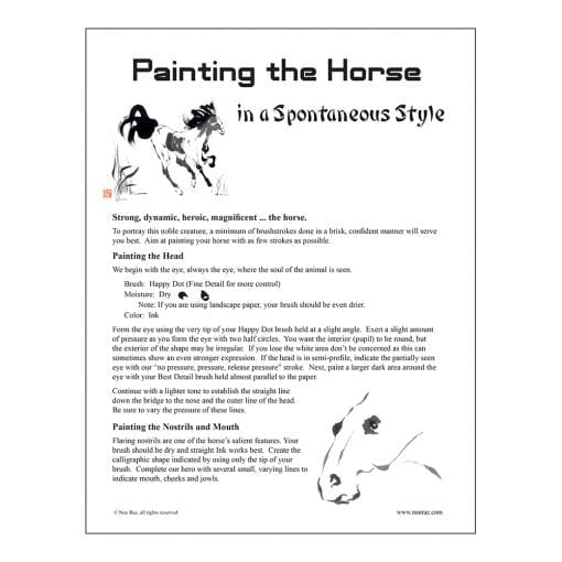 Horse Brush Painting Class Lesson by Nan Rae