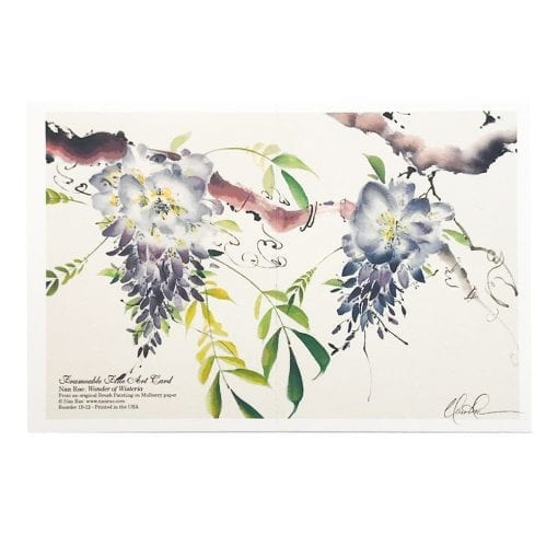 15-12 Wonder of Wisteria Card by Nan Rae - Front and Back