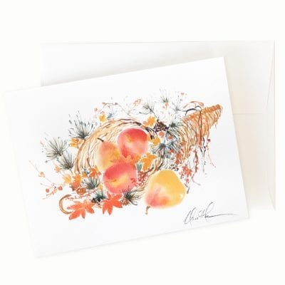 Bountiful I Card by Nan Rae