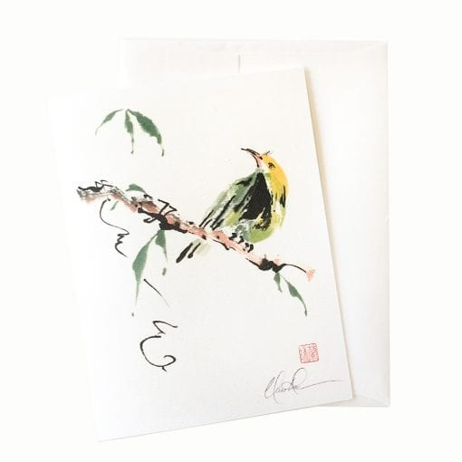 25-32 Bird on Wire Card © Nan Rae