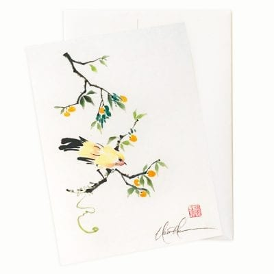 Oh Happy Day (Bird) Greeting Card by Nan Rae