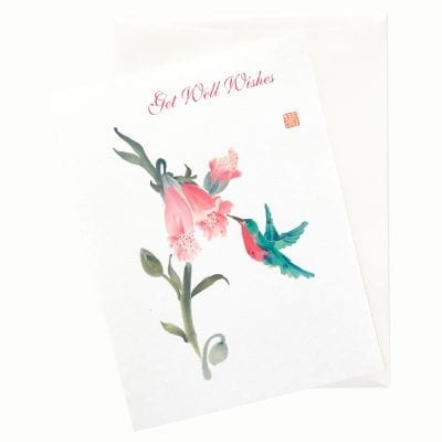 19-26Gw Foxglove Love Get Well Card by Nan Rae