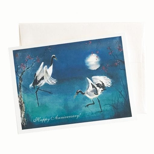 22-43A Moonlit Attraction Anniversary Card by Nan Rae