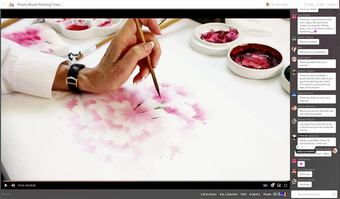 Peony Online Painting Class by Nan Rae