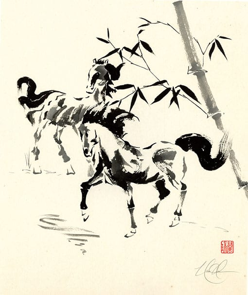 Horse painting by Nan Rae