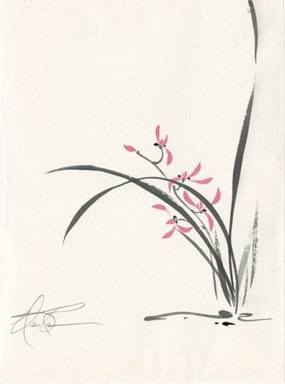 Chinese Orchid painting by Nan Rae