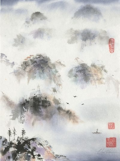 Landscape painting by Nan Rae