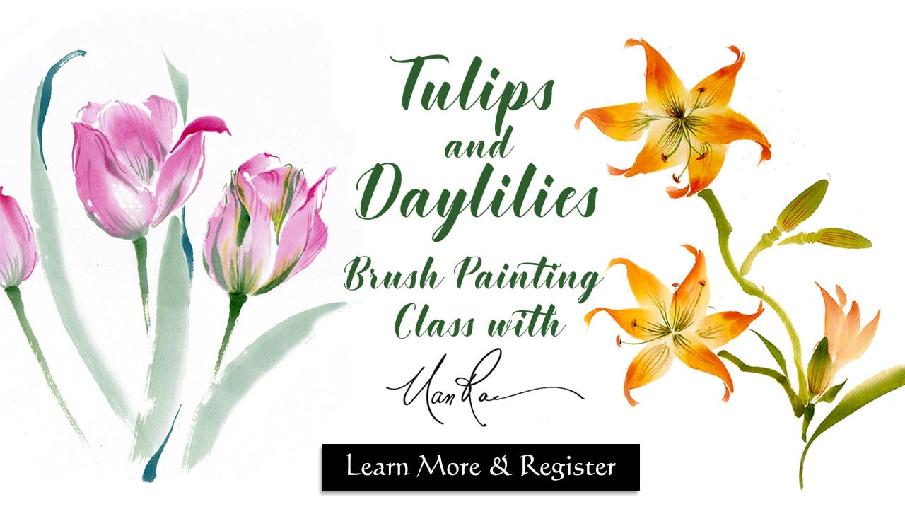 Tulips and Daylilies Online Brush Painting Class