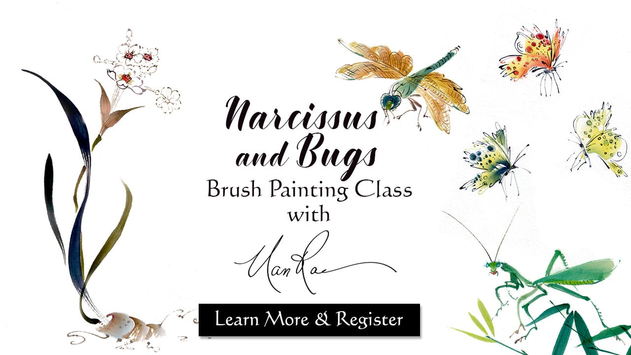 Narcissus and Bugs Painting Online Class
