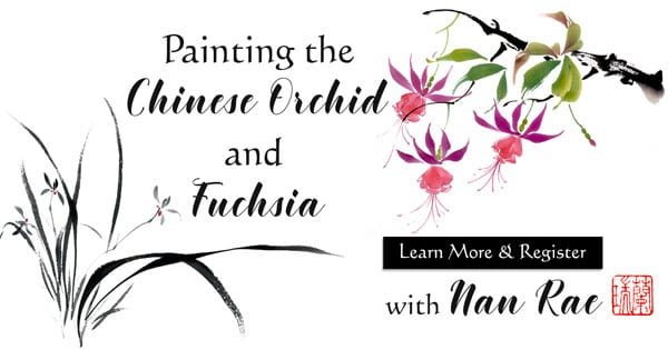 Chinese Orchid and Fuchsia Online Brush Painting Class