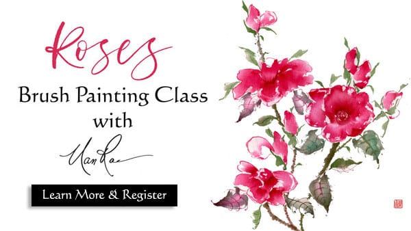 Roses Online Brush Painting Class